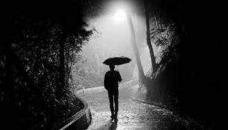 Walking Alone in the Rain, by Carina Norlund